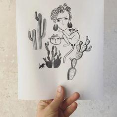 Frida Kahlo und die Augenbraunbande. #fridakahlo