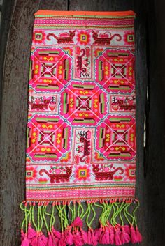 Vintage Miao Hmong folk art embroidered textileTribal