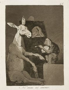 Los caprichos: Nè più nè meno; Francisco Goya; acquaforte e acquatinta; 1797-99; Museo del Prado, Madrid, Spagna.