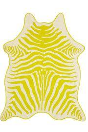 Finds+ Maslin & Co reversible zebra-print brushed-cotton beach towel