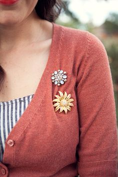 digging the vintage pins worn like this.