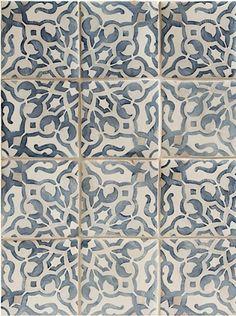 Walker Zanger: Fatima Decorative Field Tile   Mezzanotte
