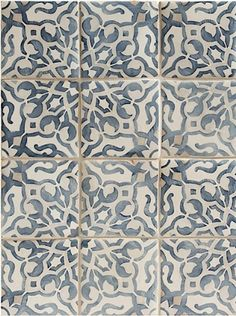 Walker Zanger: Fatima Decorative Field Tile | Mezzanotte
