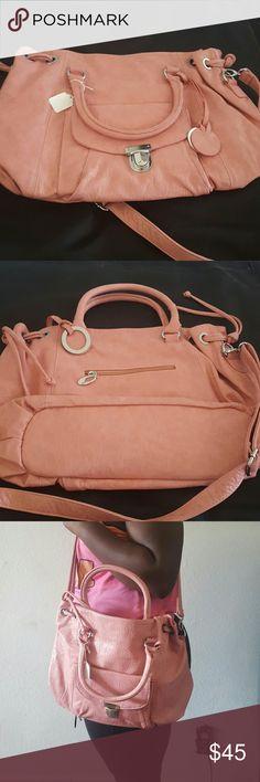 Baby pink large shoulder bag Baby pink large shoulder bag. Can be used for school or even as a baby bag. Bags Shoulder Bags