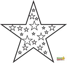 Printable Star Coloring Pages | Coloring Pages | Pinterest | Star ...