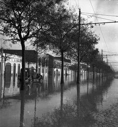 Innundações na Av. 24 de Julho, Lisboa (J. Benoliel, 1945)