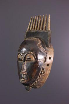 Anhänger Messing 45 mm Maske Ghana Ashanti Wachsausschmelzverfahren