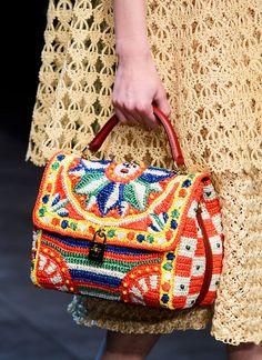Colorful DesignRaffiaBag  Woven Bag Trend for Spring Summer 2013.  Dolce & Gabbana Spring Summer 2013. #bag  #trends