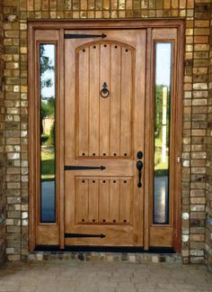 This kind of photo is certainly an outstanding style alterna.- This kind of photo is certainly an outstanding style alternative. This kind of photo is certainly an outstanding style alternative. Front Door Entryway, Iron Front Door, Wood Front Doors, House Front Door, Entry Doors, Wooden Door Design, Main Door Design, Front Door Design, Rustic Entry