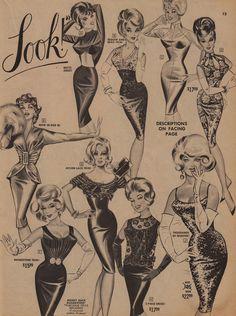 Vintage Frederick's of Hollywood is so mnj Vintage Glam, Vintage Lingerie, Vintage Ads, Moda Vintage, Retro Fashion, Vintage Fashion, Drawn Art, Pics Art, Up Girl