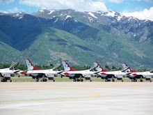 USAF Thunderbirds at Hill AFB