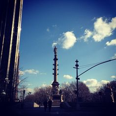 Columbus Circle on a clear sky day #nyc #manhattan #columbuscircle #bluesky