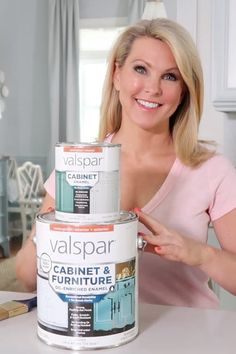 Valspar Cabinet & Furniture Enamel is the paint I recommend the MOST! Here is my review plus extra tips and application tricks for the best finish possible.#valsparcabinetenamel #valsparfurniturepaint #bestcabinetpaint #bestfurniturepaint #porchdaydreamer Best Cabinet Paint, Cabinet Paint Colors, Kitchen Paint Colors, Painting Kitchen Cabinets, Cabinet Furniture, Cool Furniture, Painted Furniture, Valspar Cabinet Enamel, Valspar Paint Colors
