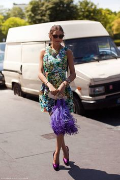 Purple Feather Olivia Palermo's Bag