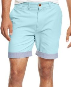 Tommy Hilfiger Men's Big & Tall Custom-Fit Chino Shorts - Blue 44T