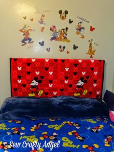 Sew Crafty Angel: Bubba's Mickey Mouse Headboard