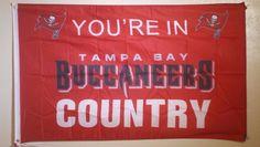 NFL Tampa Bay Buccaneers Football Flag Banner 3x5 Mancave Tailgate Garage…