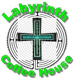 Bad logo design.  Text does not follow the circular path of the maze image.  Shadow of the word labyrinth overlaps maze image.  Image of cross is not centered on image of maze.  Image of cross background probably could have been removed or changed to a circular shape. Text in cross is not centered vertically, looks too plain, and is hard to see. (S. Grainger GCIP 152)