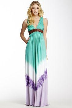 Ombre-Dye Maxi Dress by Sky on @HauteLook