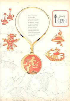 "TRIFARI ""Ming Collection"" Harper's Bazaar 1972"