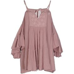 Jens Pirate Booty Blouse ($120) ❤ liked on Polyvore featuring tops, blouses, dresses, pastel pink, short sleeve ruffle blouse, short sleeve tops, pink top, pink blouse and red top