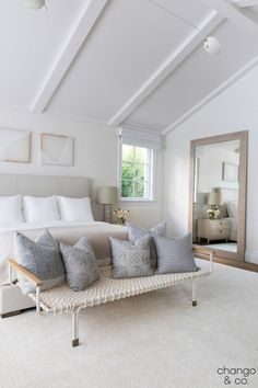 Home Decor Styles Pacific Palisades, L. by Chango & Co. Architecture, Construction Management, Interior Design & Art Curation by Chango & Co. Construction by MXA Development, Inc. Photography by Sarah Elliott Master Bedroom Design, Home Decor Bedroom, Bedroom Furniture, Master Bedrooms, Bedroom Designs, Furniture Design, Bedroom Ceiling, Ikea Bedroom, Interior Livingroom