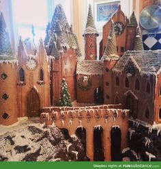 Hogwarts made out of Gingerbread