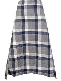 Adam Lippes macro check skirt