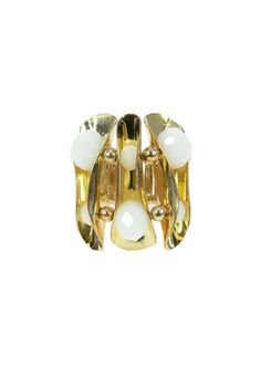 Pure Glam Ring - White $29.95 #leethal #accessories #fashion