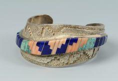 Lot 346: Zuni Bolo & Bracelets inc. Jim Harrison - Image 4 TO BID ONLINE, VISIT OUR CATALOG AT http://www.liveauctioneers.com/catalog/49503_winter-fine-art-and-antiques-auction/page18?rows=20