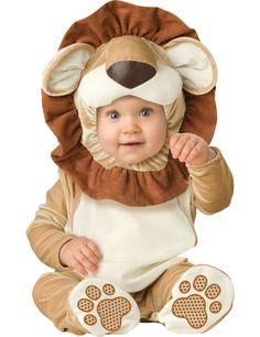 Disfraz León para bebé - Premium: Este disfraz de león para bebé es un traje con capucha. El traje se cierra con botones a presión en las piernas para que sea más cómodo. El traje tiene efecto...