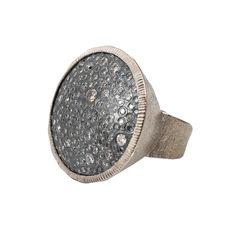 Diamond Pave Circle Ring  | Marissa Collections