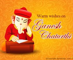 Warm wishes on Ganesh Chaturthi.
