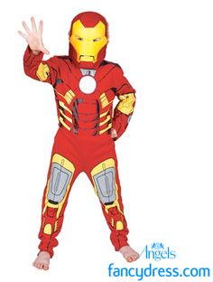 c0be6aa4e7 Iron Man character fancy dress costume with mask. Iron Man is a  self-described
