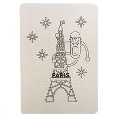 Carte Tour Eiffel individuelle collection Paris Wistiworld | Baby Prestige