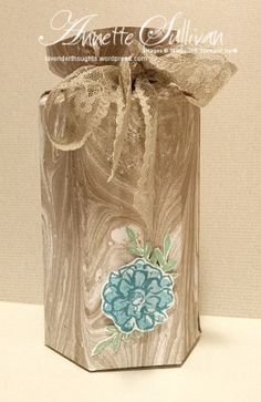 Lavender Thoughts   Annette Sullivan   Stampin' Up! What I Love Hexagonal Box
