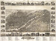 1885 east saginaw map