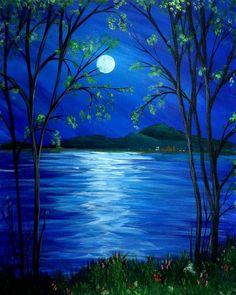 Beautiful moonlight reflection