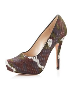 Jean-Michel Cazabat Zilla Perforated Pump #unique #loveit #wantit #shoes #designer #crazyshoes #gorgeous #fashion #style #couture #fashionista #stylista #colors #sandals