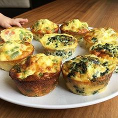 """These Baby Led Weaning 3-ingredient spinach or vegetable """"Eggy muffins"""" are SUPER easy to make, great to eat fresh for 6mo+ bubs and family OR freeze a batch for meals during the week. Easy to pick up for bubs, nice and fluffy to eat, nutritious and great for introducing egg into your bub's diet. #myblwertip #myblwer #blw #babyledweaning #babyledweaningideas #babyledweaningrecipes #toddlemeals #babymeals #baby #babyfood #babyfoodideas"""