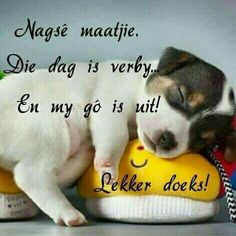 Positive Thoughts, Deep Thoughts, Goeie Nag, Afrikaans Quotes, Good Night Sweet Dreams, Good Night Quotes, Special Quotes, Morning Greeting, Sleep Tight