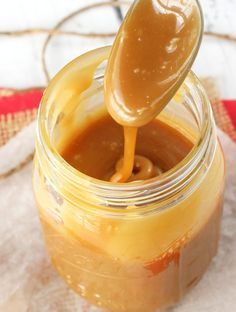 This Caramel Sauce is a very easy one to make - and it's my favorite! I love the flavor that you get from a caramel made with brown sugar! And this version is harder to burn and ruin - a definite plus! Homemade Caramel Sauce, Caramel Recipes, Brown Sugar Caramel Recipe, Sweet Recipes, Cake Recipes, Dessert Recipes, Dessert Ideas, Cake Batter Cookies, How To Make Caramel