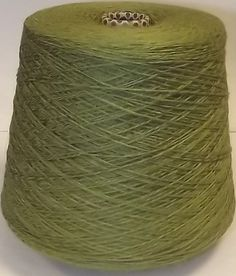 4 PLY VISCOSE CHENILLE YARN KHAKI OLIVE 500g CONE HAND MACHINE KNITTING WEAVING