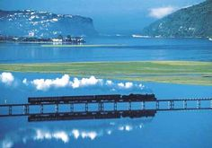 Knysna and the Knysna lagoon - on the Garden Route, Western Cape - South Africa Beautiful Places To Visit, Places To See, Places Ive Been, South Afrika, Old Steam Train, Xhosa, Knysna, The Beautiful Country, Viajes