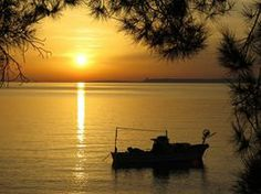 Aegean sunset, by Neil Hedge