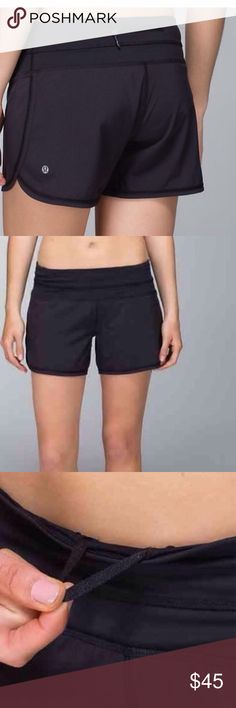Lululemon Groovy Run short, black, size 2. We designed this short specifically for women like us with athletic legs and thighs: cut generously in the leg to allow for maximum moveability. We made it out of lightweight, wicking Swift fabric so we can work up a sweat without worrying about catching a chill. key features cut generously in the leg to allow for maximum moveability wide, flat Luxtreme waistband is wide by design to sit smoothly on your waist the continuous drawcord won't come out…