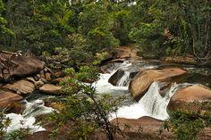 Waterfall at Babinda Boulders in the Atherton Tablelands of Northeast Australia