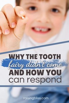 16 important reasons why the tooth fairy didn't come. Did she forget to put money under the pillow and take the tooth? When she doesn't show up, here are things you can say to your little boy or girl to make them feel better. Includes a free printable. Read this article to learn about our tooth fairy story, and for a tip on what to say to your child when he asks is the tooth fairy real? Fun family traditions, motherhood advice, parenting tips. raisingbliss.com #toothfairy #family #raisingbliss Gentle Parenting, Parenting Advice, Quotes About Motherhood, Motherhood Humor, Newborn Care, Mom Advice, Tooth Fairy, Family Traditions, Raising Kids