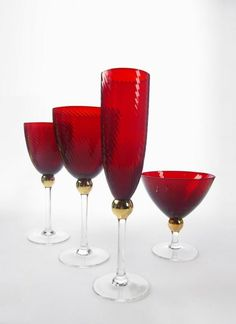 Colored Stemware | Colored Stemware Drinking Glass Available Various Shapes Colors