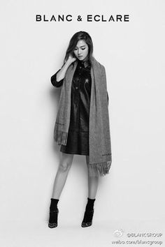Jessica Jung posing in a photo shoot for BLANC & ECLARE.